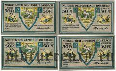 Росбах (Rossbach), 4 нотгельда (1921) года
