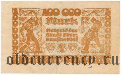 Оберхаузен (Oberhausen), 100.000 марок 1923 года