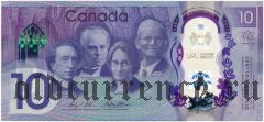 Канада, 10 долларов 2017 года. На пластике