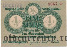 Вольфенбюттель (Wolfenbüttel), 1 марка 1918 года