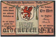 Плате (Plathe), 1 марка