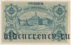 Эммендинген (Emmendingen), 5 марок 1918 года