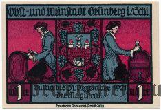 Грюнберг (Grünberg), 1 марка 1921 года. Вар. 2