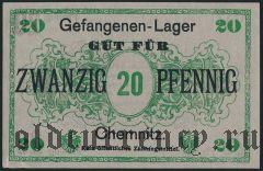 Германия, Chemnitz, 20 пфеннингов