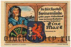 Швайнемюнде (Swinemünde), 1 марка (1922) года