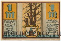 Клодниц (Klodnitz), 1 марка 1921 года. Вар. 1