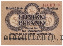 Вольфенбюттель (Wolfenbüttel), 50 пфеннингов 1918 года