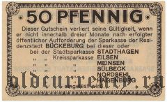 Бюккебург (Bückeburg), 50 пфеннингов 1920 года