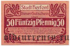 Херфорд (Herford), 50 пфеннингов 1920 года