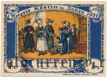 Кешлин/Кошалин (Köslin), 1 марка 1921 года. Вар. 1