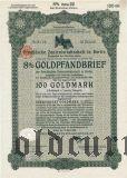 Preussische Zentralstadtschaft, Berlin, Goldpfandbrief, 100 goldmark 1929