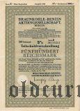 Braunkohle-Benzin Aktiengesellschaft, Berlin, 500 reichsmark 1940