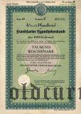 Frankfurter Hypothekenbank, 1000 reichsmark 1940