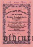 Deutschen Centralbodenkredit, Berlin, 4% Kommunal-obligation, 200 reichsmark 1941