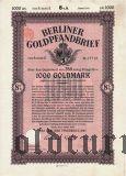 Berliner Goldpfandbrief, 1000 goldmark 1928