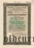 Preussische Laandesrentenbank, Берлин, 500 goldmark 1931 года