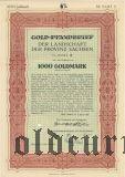 Landschaft der Provinz Sachsen, 1000 goldmark 1927