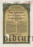 Leipziger Hypothekenbank, Leipzig, 8% iger Gold Pfandbrief, 1000 goldmark 1930
