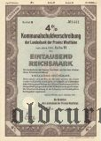 Landesbank der Provinz Westfalen, 1000 reichsmark 1941