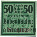 Бабенхаузен (Babenhausen), 50 пфеннингов 1920 года