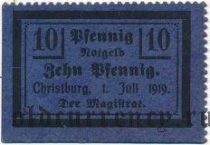Христбург (Christburg), 10 пфеннингов 1919 года