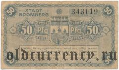 Бромберг (Bromberg), 50 пфеннингов 1919 года