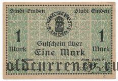 Эмден (Emden), 1 марка 1919 года