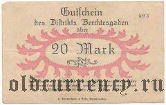 Берхтесгаден (Berchtesgaden), 20 марок 1919 года
