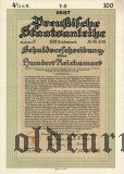 Preussische Staatsanleibe, 100 рейхсмарок 1937