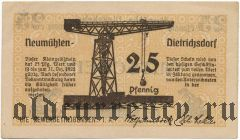 Ноймюлен-Дитрихсдорф (Neumühlen-Dietrichsdorf), 25 пфеннингов 1922 года