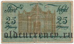 Везель (Wesel), 25 пфеннингов 1920 года. Вар. 2