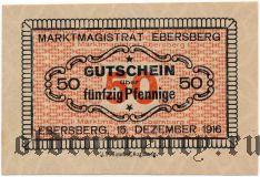 Эберсберг (Ebersberg), 50 пфеннингов 1916 года. Вар. 1