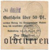 Растенбург (Rastenburg), 50 пфеннингов 1914 года