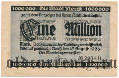 Нойс (Neuss), 1.000.000 марок 1923 года
