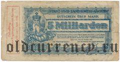 Ахен (Aachen), 5.000.000.000 марок 1923 года