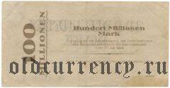 Хёрде (Hörde), 100.000.000 марок 1923 года