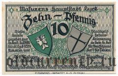 Лик (Lyck), 10 пфеннингов 1920 года