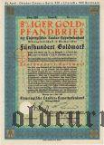 Thüringischen Landes-hypothekenbank, Weimar, 500 goldmark 1930