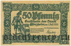 Пфорцхайм (Pforzheim), 50 пфеннингов 1920 года