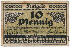 Зондерсхаузен (Sondershausen), 10 пфеннингов 1921 года