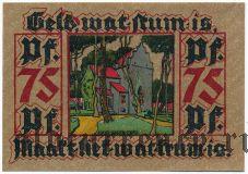 Лер (Leer), 75 пфеннингов 1921 года