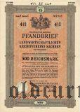 Landwirtschaftlichen Kreditvereins Sachsen, 500 reichsmark 1938