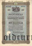 Landwirtschaftlichen Kreditvereins Sachsen, 1000 reichsmark 1939