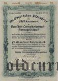 Deutschen Centralbodenkredit, Berlin, 4%, 5000 reichsmark 1940