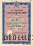 Frankfurter Hypothekenbank, 100 reichsmark 1938