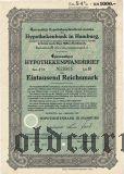 Hypothekenbank in Hamburg, 1000 reichsmark 1942