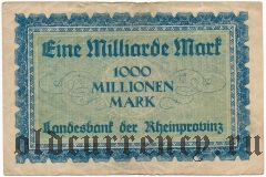 Дюссельдорф (Düsseldorf), 1.000.000.000 марок 1923 года