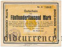 Бергедорф (Bergedorf), 500.000 марок 1923 года
