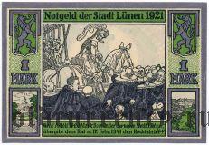 Люнен (Lünen), 1 марка 1921 года