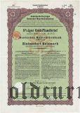 Deutschen Hypothekenbank, Meiningen, 8% iger Gold Pfandbrief, 100 goldmark 1928